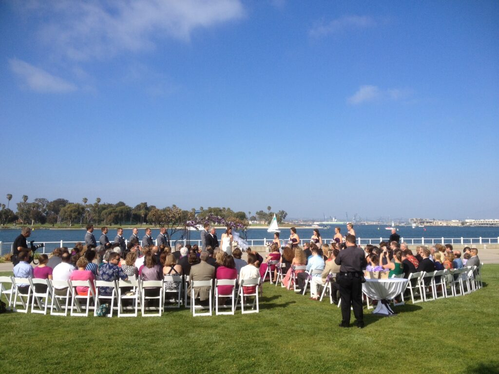 Bay Wedding At The Coronado Community Center