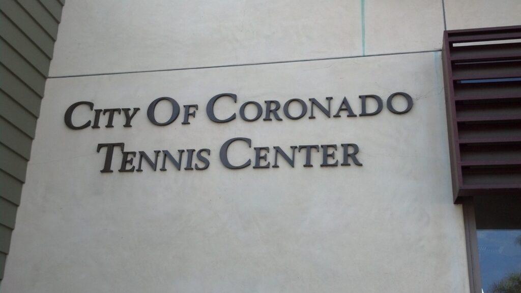 Tennis Center sign