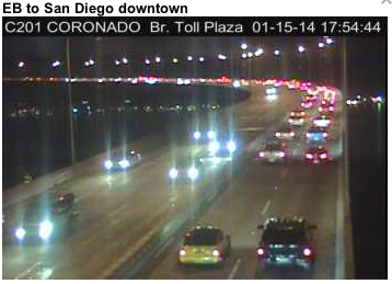 Injury accident on the Coronado Bridge