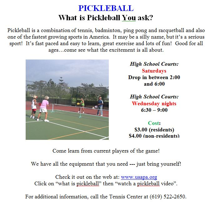 pickleball january 2016