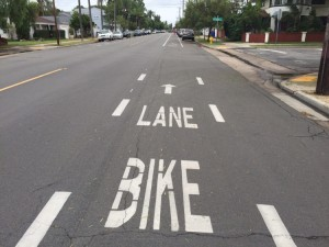 painted bike lane