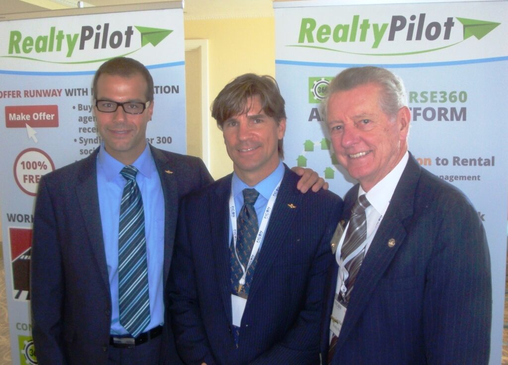 Left to right: Realty Pilot President John Murray, Chief Executive Officer Christian Broadwell and Board Chairman Len Kaine.