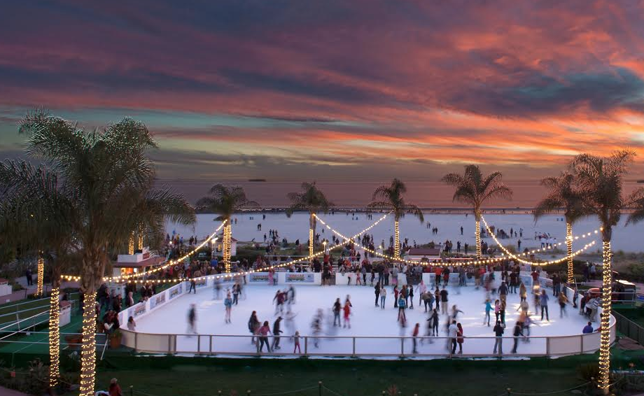 Skating by the Sea returns to Hotel del Coronado for the 10th year. This spectacular rink is located on the Windsor Lawn, and features stunning views of Coronado beach.