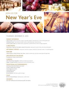 Market Cafe New Year's Eve Menu