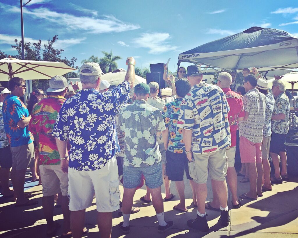 """Mayor Tanaka, who was born in Honolulu, Hawaii has brought the spirit of """"Aloha"""" to Coronado. Here he is seen on stage judging the Hawaiian shirts worn at Beer By the Bay presented by the Islander Ladies Club on October 10, 2015."""