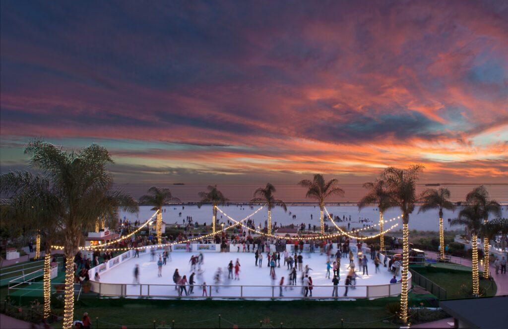 Hotel del Coronado ice skating rink