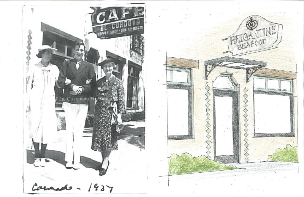 1937 El Cordova Cafe inspires Brigantine Entryway 2016 remodel