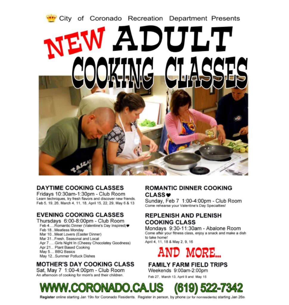 Maine adult cooking classes