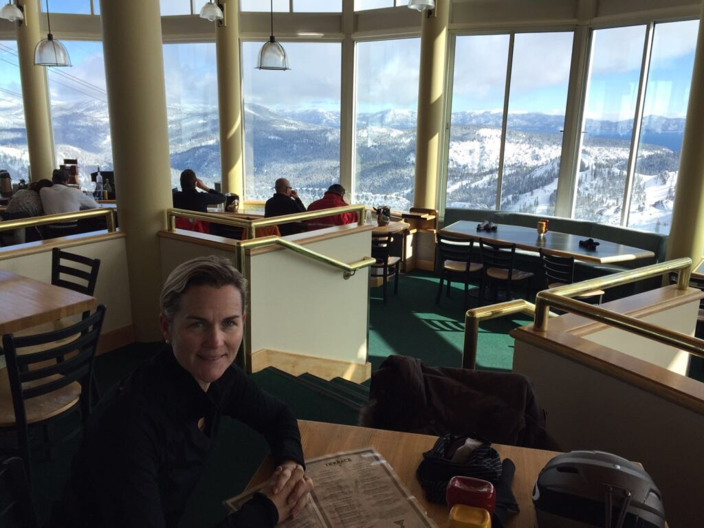 Terrace Restaurant & Bar located at High Camp (8200 elevation). Just upstairs from the Olympic Museum.