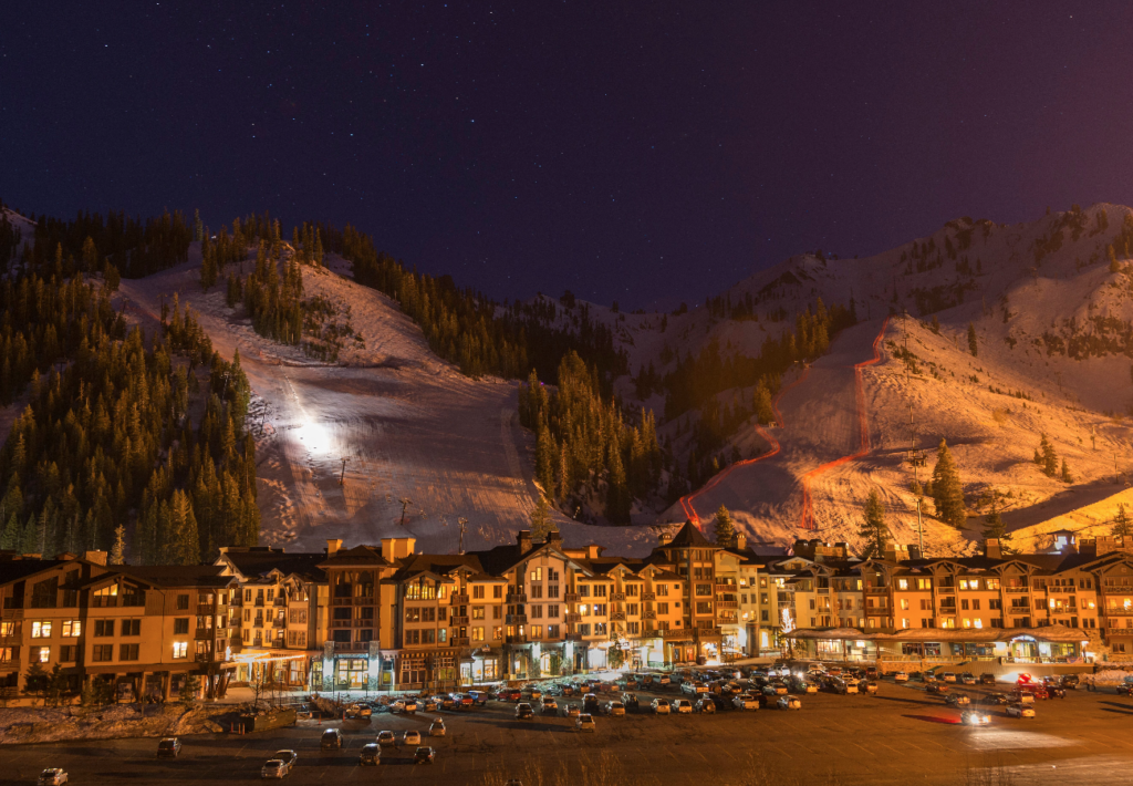 This is how close you are to the mountain (image courtesy of the Village at Squaw Valley)