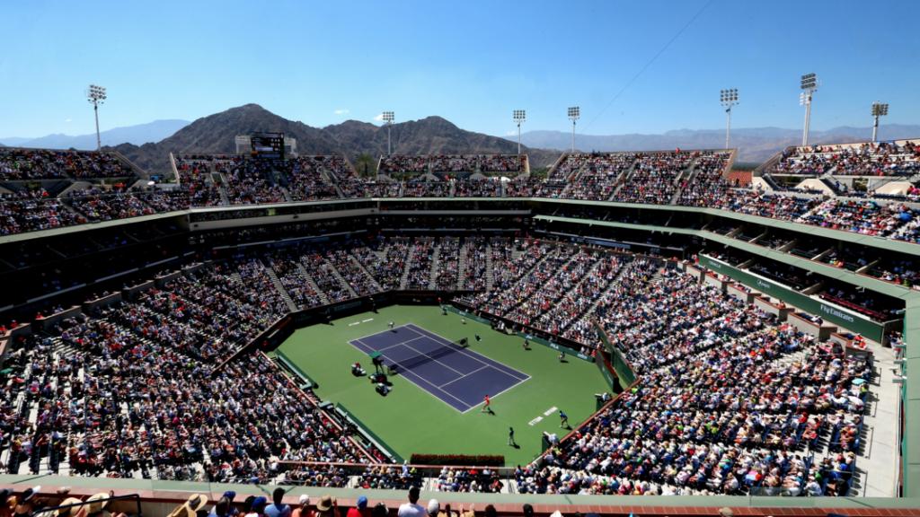 Stadium 1 tennis court at Indian Wells.