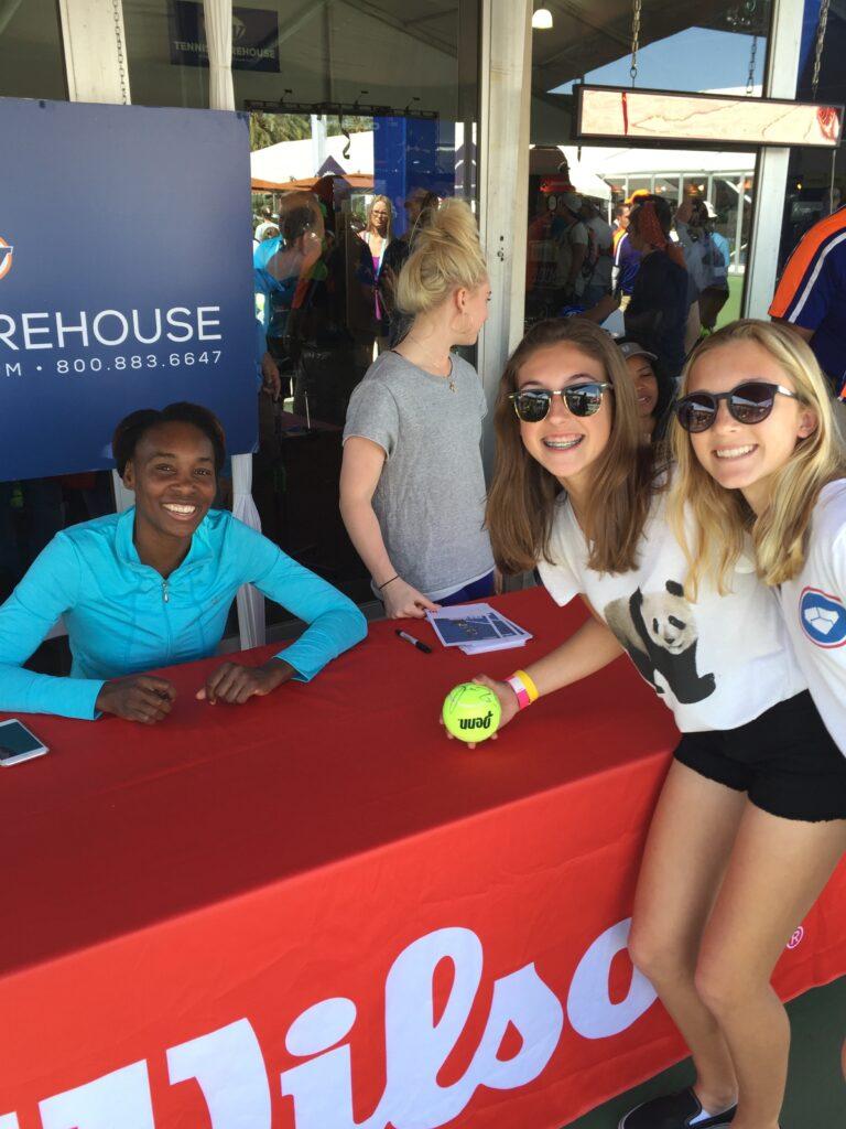 Tennis Warehouse sponsored a Venus Williams signing.