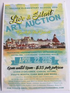 Village Art Auction 2016 flyer