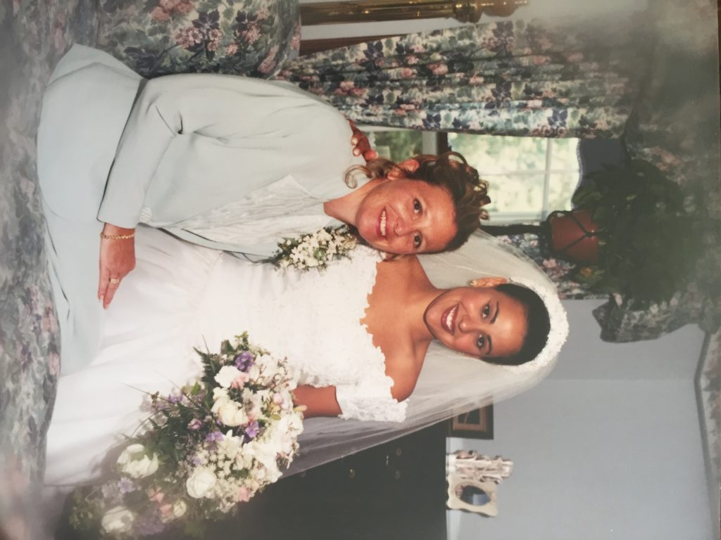 My wedding day with my mother Tamie