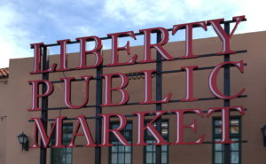 Liberty Public Market sign