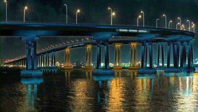 Lights on the San Diego-Coronado Bridge