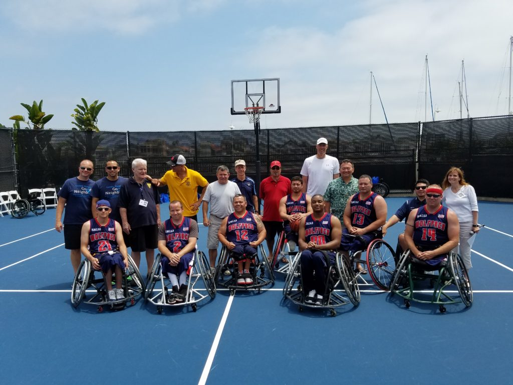Old Goats wheelchair basketball