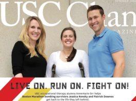 screenshot of USC Chan magazine
