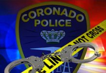 Coronado Police Logo and Cuffs