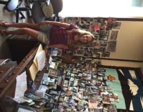 Citizens' Climate Change Assistant and former intern, Adeline DeYong, at the CCL's offices in Coronado. Adeline is also a student at SDSU
