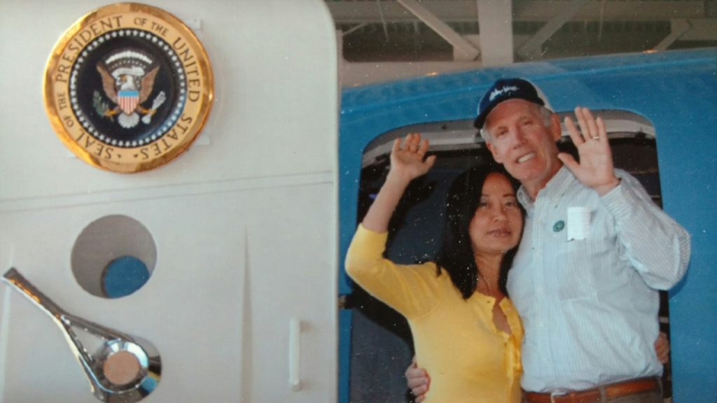 Ron and his wife at the Reagan Library