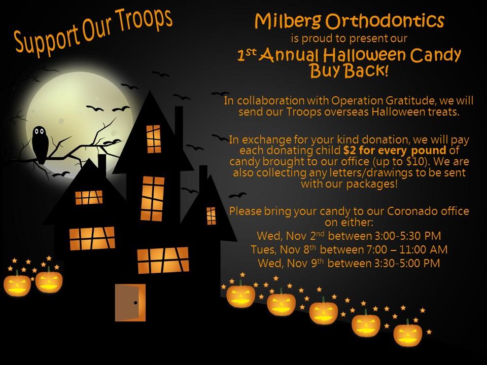Milberg Orthodontics Candy Buy Back