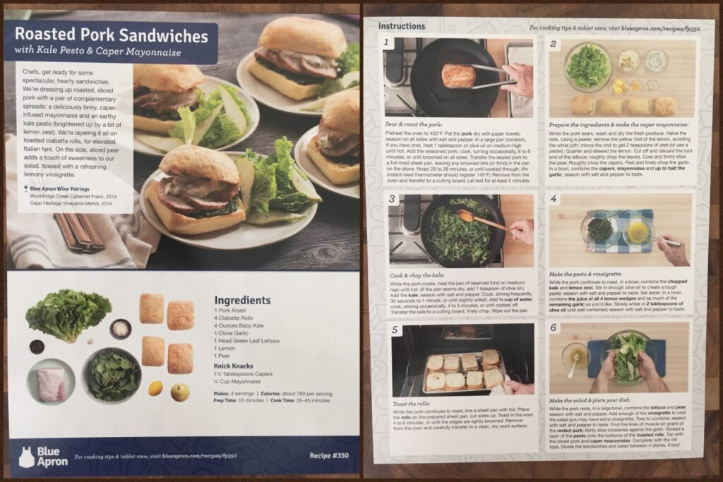 Blue apron wine