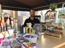 Alex, Library Coffee Cart owner