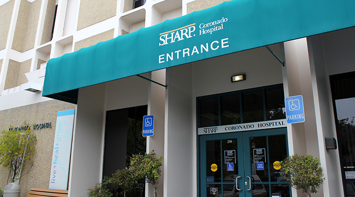 Sharp Coronado Hospital entrance