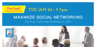 2017 Coronado Chamber Social Networking flyer