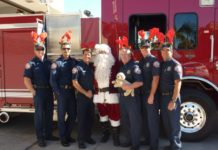 Rotary Santa and Firefighters