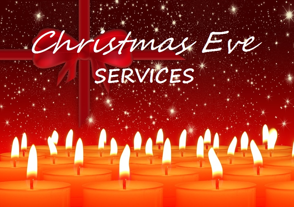 Christmas Eve Services candles