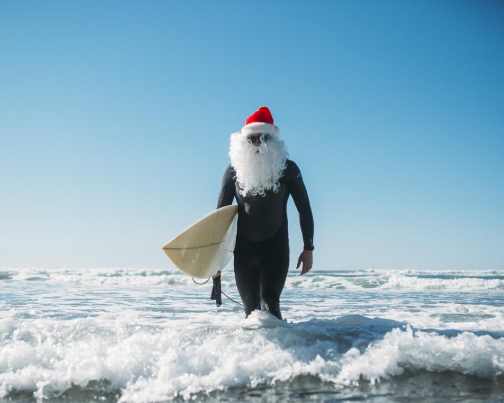 Salty Claus Santa Surf Off