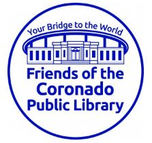 FOL Friends of Library logo blue