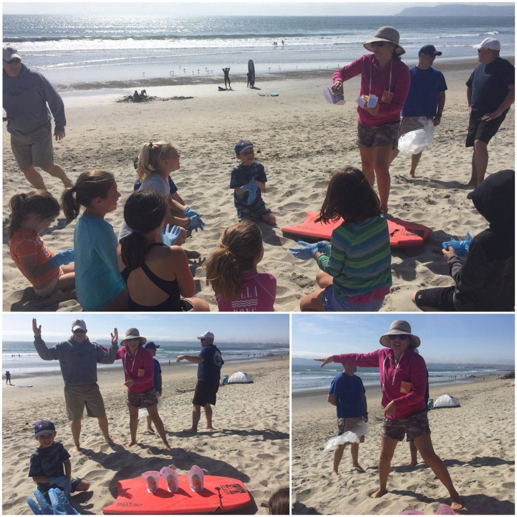 Gator beach cleanup crew