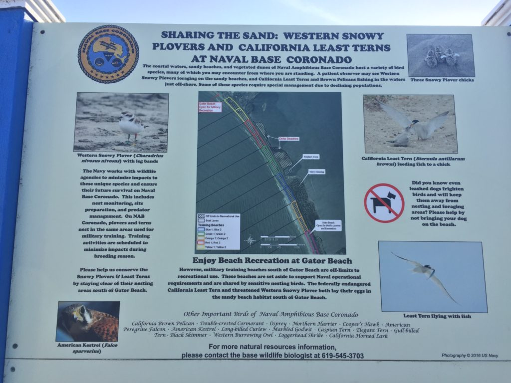 Gator Beach sign