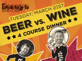 Leroy's Beer vs Wine dinner