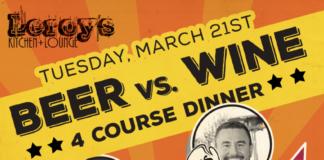 Leroy's Beer vs Wine dinner