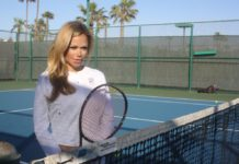 Angelica Gavaldon at the Cays Tennis Courts. Photo by S. Valle