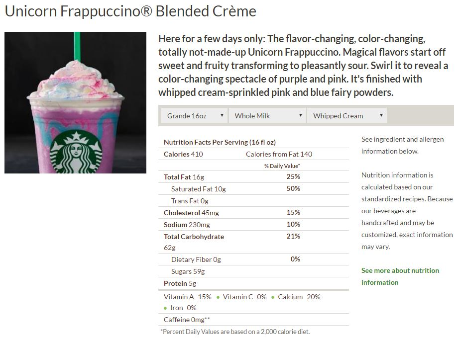 Unicorn Frappuccino - Does a Moment on