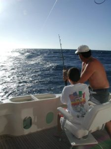 Jim and James Shirey fishing on the Wheel Sea. Photo courtesy of Sue Shirey.