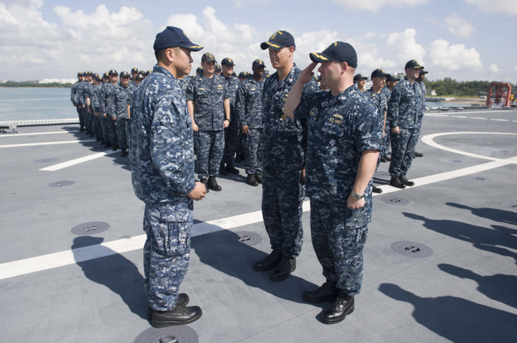 USS Coronado Exchanges Command