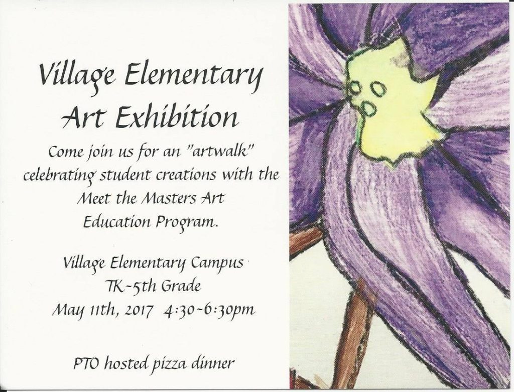 Village Art Exhibition May 11 2017