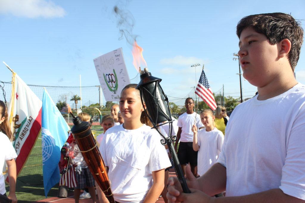6th Grade Olympics torch