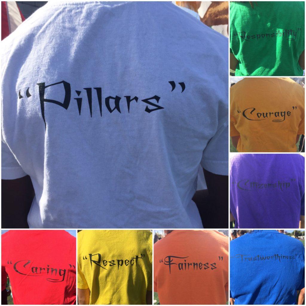 Pillars of Character shirts