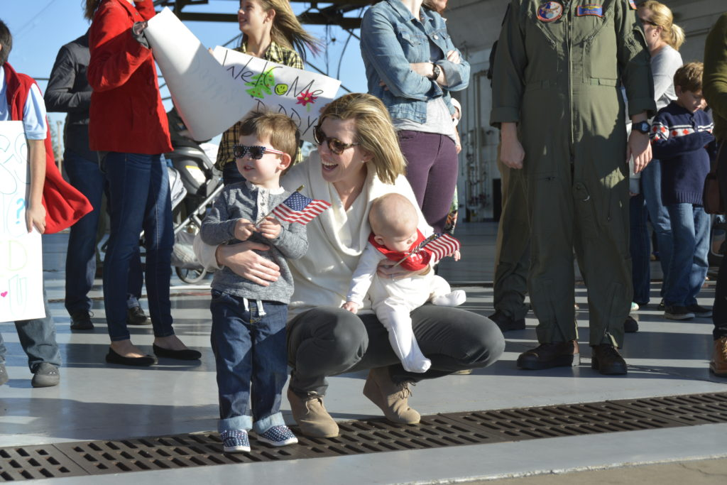 Annie Murray awaiting her husband's return from deployment