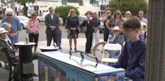 public art piano sitting
