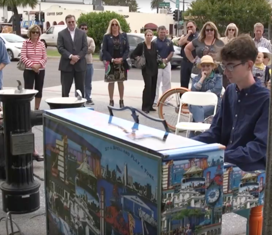 public art piano sitting