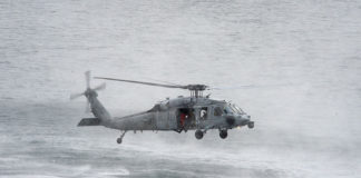 """Helicopter Sea Combat Squadron Four (HSC) 4, MH-60S Seahawk assigned to the """"Black Knights"""""""