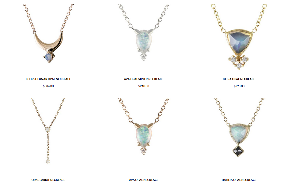 Several Opal Necklaces from Lumo